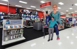 Mobile Phone Store Selfie Point 3D Printed