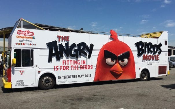 Angry Birds Wrapping Bus