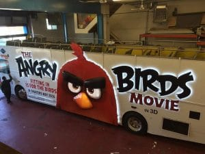 Angry Birds Movie Wrapping Bus