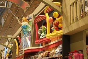3d giant displays line aisles of a supermarket