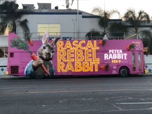 unlit Rascal Rebel Rabbit bus wrap