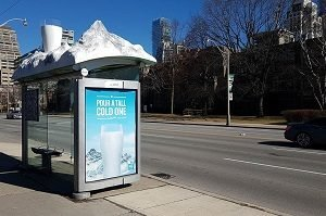 3D transit shelter by Media Resources