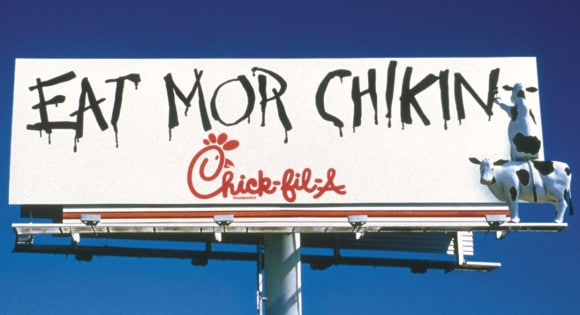 Chick Filet original cows billboard