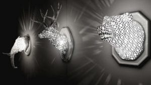 3D Decor: illuminated animal wall mounts