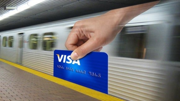 Visa guerilla marketing train ad