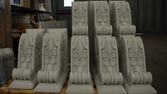 3D printed capitals for a palace