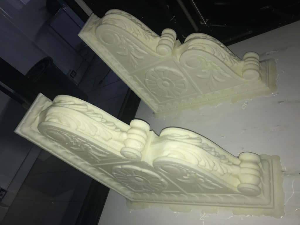 Large 3D printer for restoration and architecture