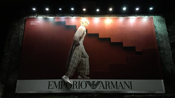 3D printed Armani billboard