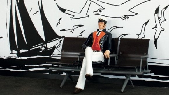 3D printed Corto Maltese in Paris train station