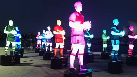 Wide format printer 3D print rugby players for Rugby League World Cup
