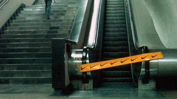 nike caution tape guerilla marketing