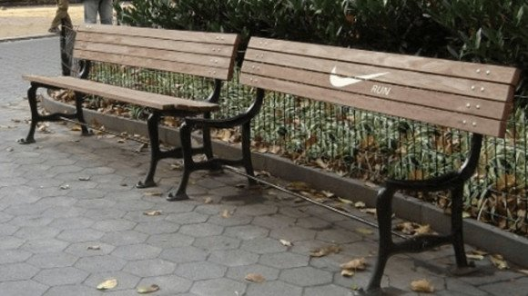 nike park bench guerilla marketing