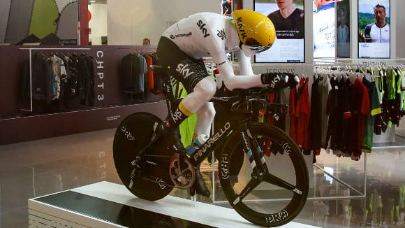 3d printed Chris Froome mannequin