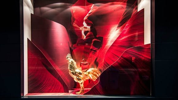 3d printed window displays chinese new year rooster
