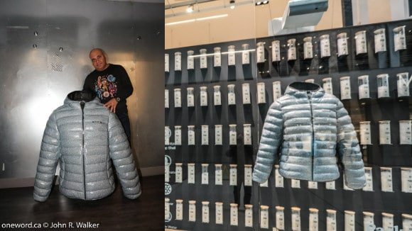 3d printed window displays Roots coat