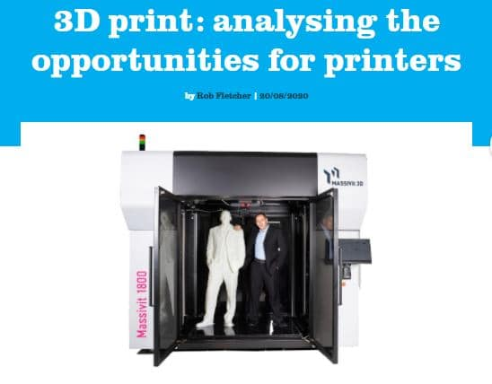 Massivit 3D Featured in FESPA article on 3D Printing opportunities for print service providers